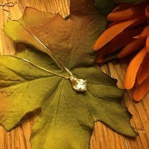 14KT Gold Diamonique Necklace